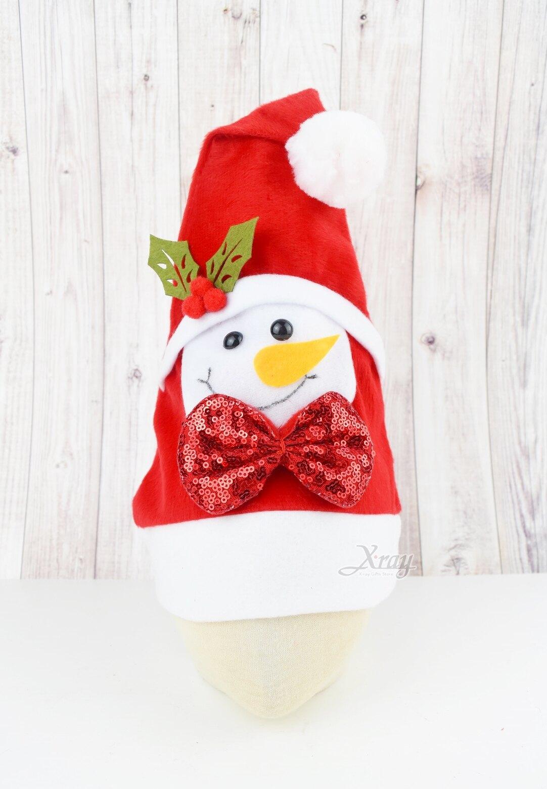 兒童聖誕帽-雪人,聖誕節/髮夾/帽夾/飾品/聖誕樹/派對/化妝舞會/表演道具/話劇/髮圈,X射線【X124401】