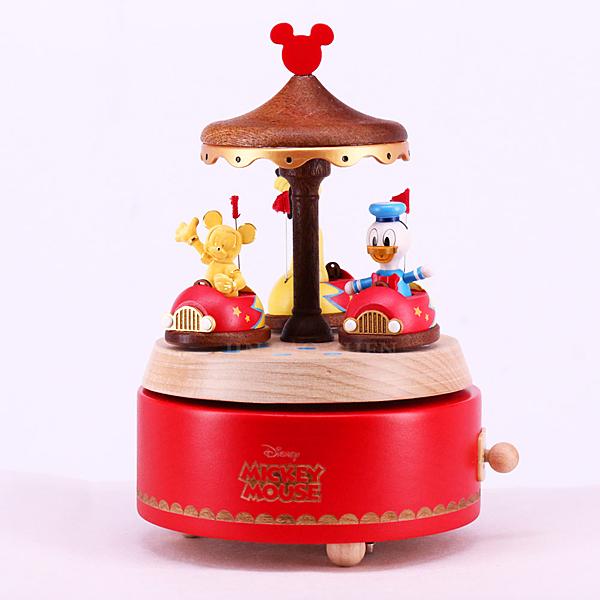 Disney迪士尼系列金飾 碰碰車音樂盒 黃金米奇款