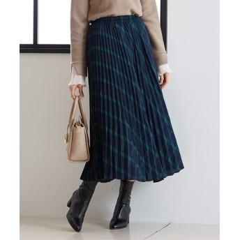 ウール調ガーゼ素材♪大人におすすめの総プリーツスカート (ひざ丈スカート)Skirts, 裙子