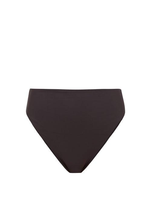 Jade Swim - Incline High-rise Bikini Briefs - Womens - Black