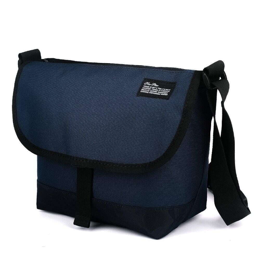 郵差包 防水素色迷彩拼接側背包包斜背包 男 女 男包 現貨 雙面可用 NEW STAR BL162