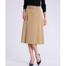 CLEAR IMPRESSION ハイウエストフレアスカート ミモレ丈・ひざ下丈スカート,キャメル1