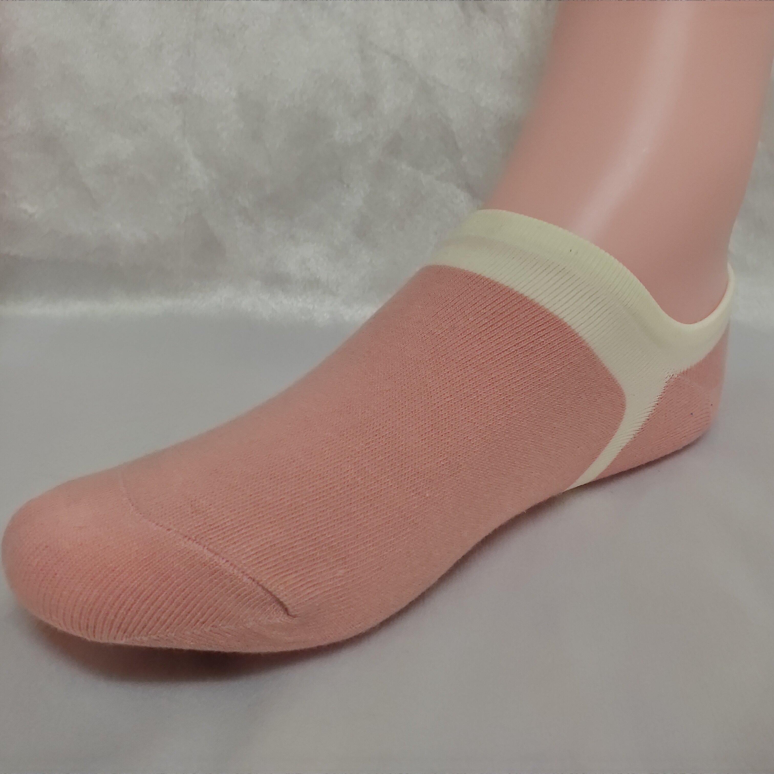 百立棉業  包包鞋專用隱形襪 顏色:黑色、粉色、灰底粉邊色 細柔棉 細針 後腳跟止滑 休閒鞋 樂福鞋 隱形襪 台灣製造