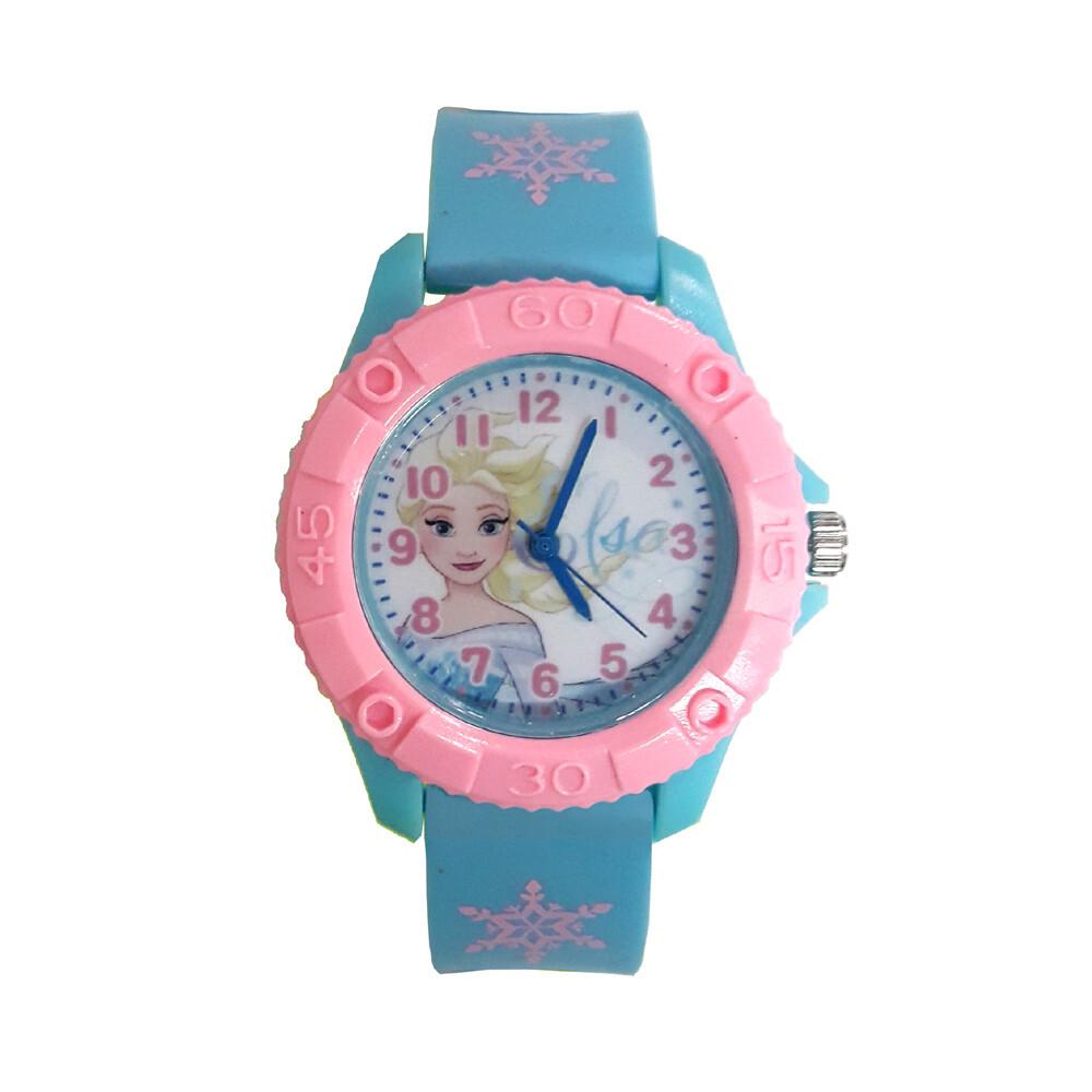 冰雪奇緣-艾莎 齒輪款膠錶-藍