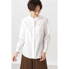 (HUMAN WOMAN/ヒューマンウーマン)◆ブロードタイプライターストライプシャツ/レディース シロ