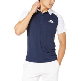 [アディダス] 半袖シャツ テニスウェア CLUB C/B ポロシャツ FRO44 [メンズ] カレッジネイビー/ホワイト (DU0855) 日本 J/L (日本サイズL相当)