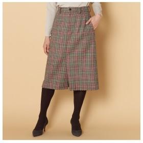 【エリオポール/HELIOPOLE】 HELIOPOLE ガングラブチェックタイトスカート