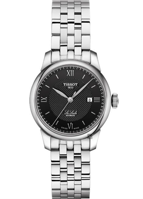 TISSOT 天梭表 T0062071105800 LE LOCLE  力洛克優雅氣質時尚腕錶 /黑 29mm