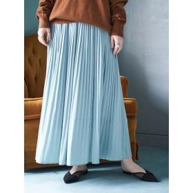 【6,000円(税込)以上のお買物で全国送料無料。】【一部予約】ギャザーロングプリーツスカート