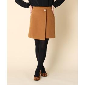 Couture Brooch(クチュールブローチ) 【WEB限定プライス/手洗い可】ボタンラップ台形スカート