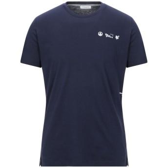 《セール開催中》PAOLO PECORA メンズ T シャツ ダークブルー S コットン 100%