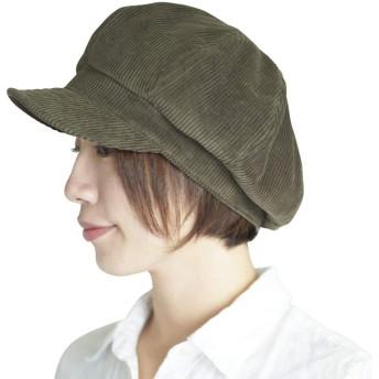 nakota ナコタ コーデュロイキャスケット【カーキ】 大きいサイズ 帽子 メンズ レディース