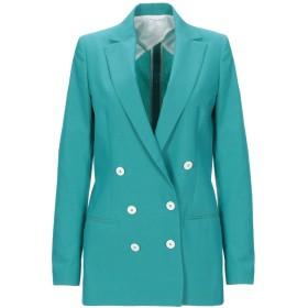 《セール開催中》TONELLO レディース テーラードジャケット ターコイズブルー 40 コットン 52% / バージンウール 46% / ポリウレタン 2%