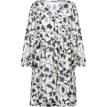 《セール開催中》MALPARMI レディース ミニワンピース&ドレス ホワイト 40 ラミー 100%