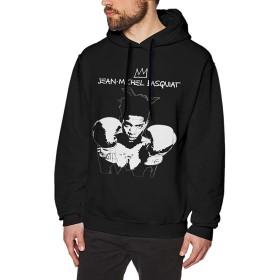 ジャンミシェルバスキアメンズパーカーセーターファッション長袖トップポケットなしフード付きスウェットシャツL