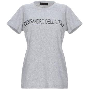 《セール開催中》ALESSANDRO DELL'ACQUA レディース T シャツ グレー XS コットン 100%