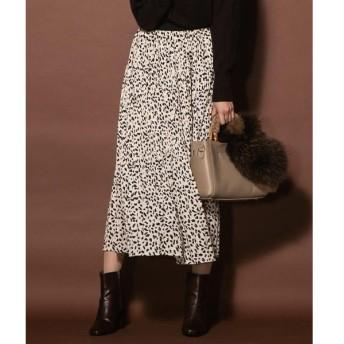VICKY / ビッキー レオパードプリーツスカート