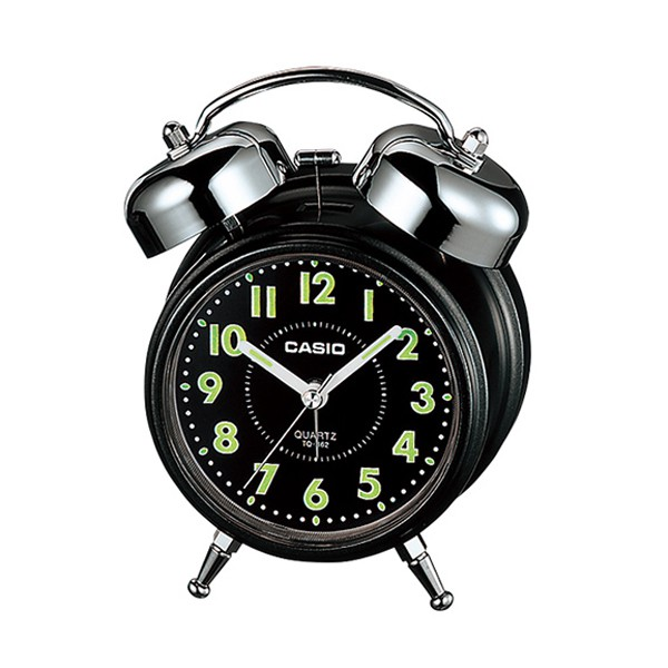 CASIO 卡西歐 TQ-362 雙響螢光桌上型指針鬧鐘 (顏色隨機出貨) 原廠公司貨