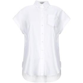《セール開催中》BRUNELLO CUCINELLI レディース シャツ ホワイト XS コットン 72% / ナイロン 23% / ポリウレタン 5% / 真鍮/ブラス