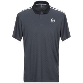 《セール開催中》SERGIO TACCHINI メンズ ポロシャツ スチールグレー S 100% ポリエステル