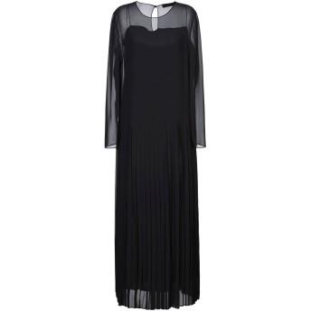《セール開催中》ALESSANDRO DELL'ACQUA レディース ロングワンピース&ドレス ブラック 42 ポリエステル 100%