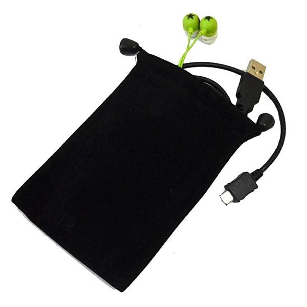 【GF381】束口絨布袋9x13耳機收納袋 布袋 束口袋 電源線收納袋★EZGO商城★