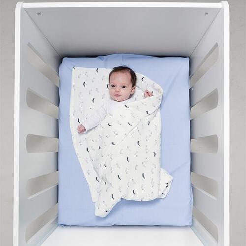 BabyBites 西班牙鯊魚咬一口 嬰兒純棉透氣包巾-海底鯨魚★愛兒麗婦幼用品★