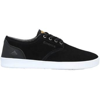 《セール開催中》EMERICA メンズ スニーカー&テニスシューズ(ローカット) ブラック 7 革 / 紡績繊維
