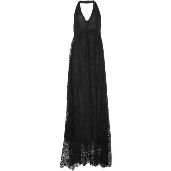 《セール開催中》LIU JO レディース ロングワンピース&ドレス ブラック 38 ポリエステル 100%