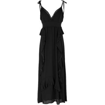 《セール開催中》TWENTY EASY by KAOS レディース 7分丈ワンピース・ドレス ブラック 40 ポリエステル 100%