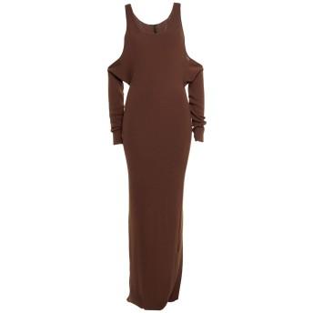《セール開催中》BEN TAVERNITI UNRAVEL PROJECT レディース ロングワンピース&ドレス ブラウン XS コットン 85% / カシミヤ 15%