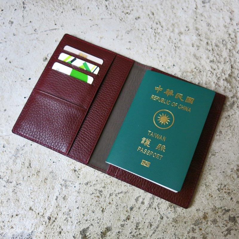 復古酒紅護照夾 【LBT Pro】