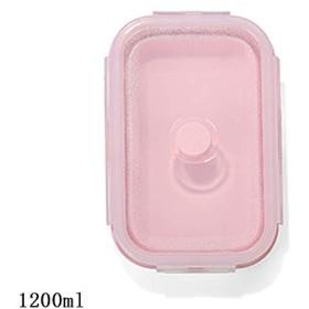 シリコーン折りたたみマイクロ波弁当弁当箱ポータブル健康素材食品保存容器 Foodbox 1 Pc/3 Pc