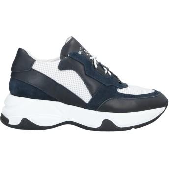 《セール開催中》DANIELE ALESSANDRINI メンズ スニーカー&テニスシューズ(ローカット) ダークブルー 39 革 / 紡績繊維