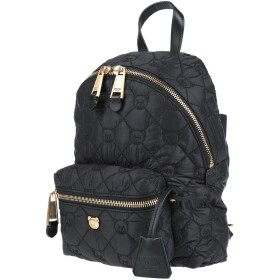 《セール開催中》MOSCHINO レディース バックパック&ヒップバッグ ブラック 紡績繊維