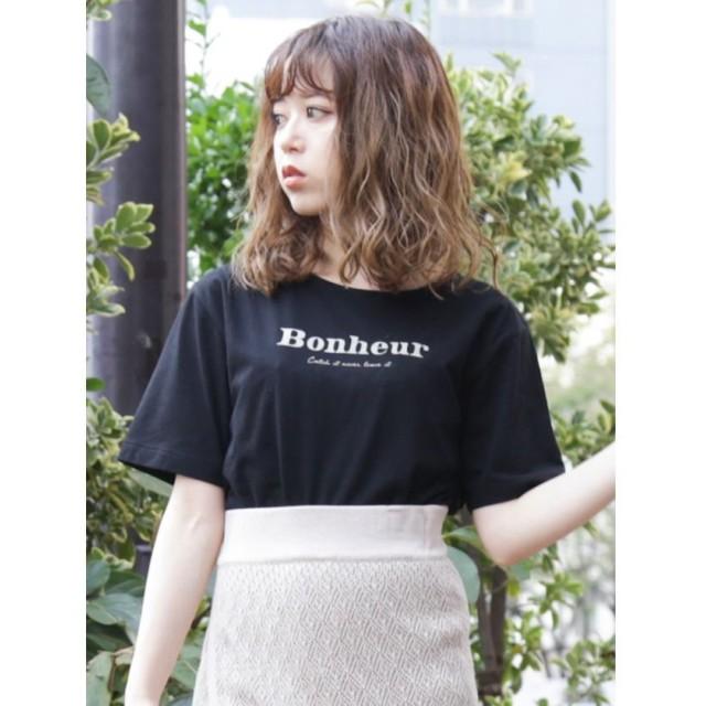ダズリン カジュアルフォルムTシャツ レディース ブラック F 【dazzlin】