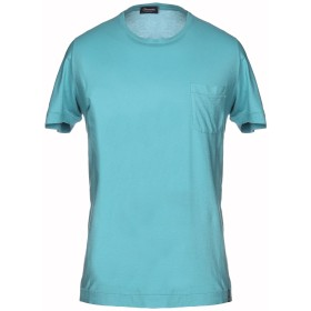 《セール開催中》DRUMOHR メンズ T シャツ ターコイズブルー S コットン 92% / カシミヤ 8%