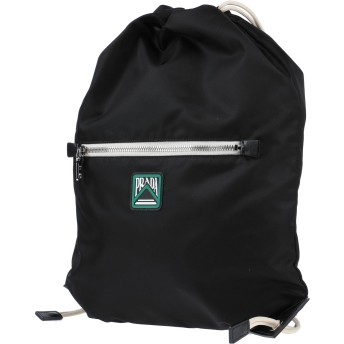 《セール開催中》PRADA メンズ バックパック&ヒップバッグ ブラック ナイロン / 牛革(カーフ)