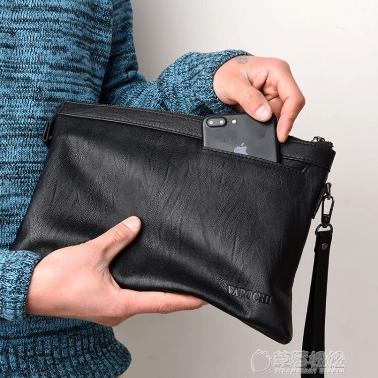 夯貨折扣! 新款男士手包男包大容量手拿包信封包軟皮休閒夾包韓版