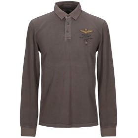 《セール開催中》AERONAUTICA MILITARE メンズ ポロシャツ カーキ S コットン 100%