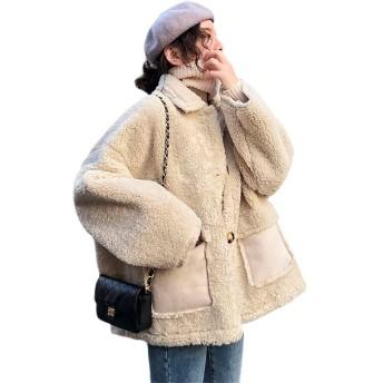 ボアブルゾン レディース もこもこ ボアジャケット 韓国風 防寒コート ボタンジャケット ショートコート 厚手 カジュアル ゆったり 暖かい 秋冬