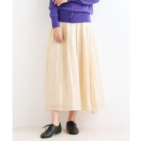 【ニーム/NIMES】 サテンエアフロー ギャザースカート