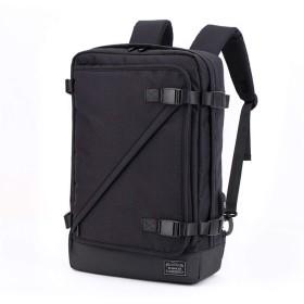 BAJIMI バックパック カメラバッグ 大容量 ポートカジュアルメンズ盗難防止コンピュータバッグを充電USBでバックパック旅行バックパック防水軽量の大容量コンピュータビジネスブリーフケーススクールバッグを充電耐久性に優れた多機能 おしゃれ 収納 旅行 (色 : ブラック, サイズ : Free size)