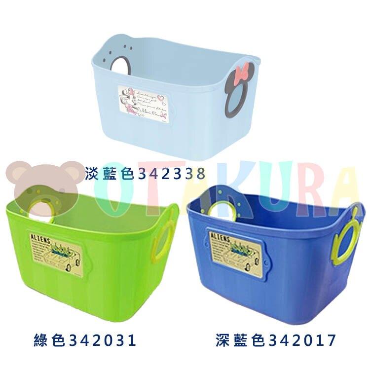 錦化成 三眼怪 米妮 深藍色綠色淺藍色 手提籃 收納籃 小物籃 置物籃 共三款  日本進口正版 342017