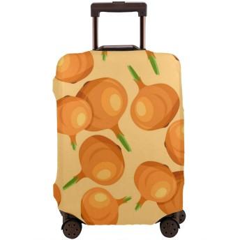 タマネギのパターン スーツケースカバー ラゲッジカバー キャリーカバー 保護カバー 傷防止 防塵カ 防汚れ 出張 旅行