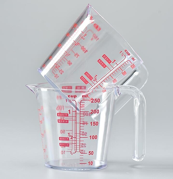 展藝塑膠計量桶烘焙奶茶廚房烘焙月餅工具家用【618特惠】
