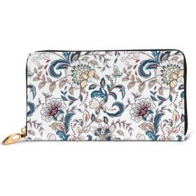 プロヴァンス風の花 レディース 財布 カワイイ 長財布 カード 本革 大容量 12枚 磁気防止 ギフトボックス付き