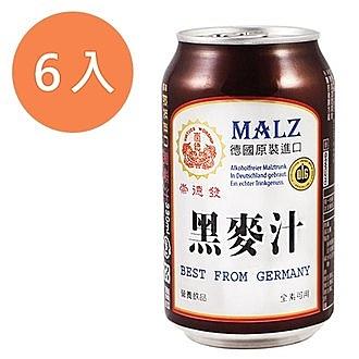 崇德發 天然黑麥汁 易開罐 330ml (6入)/組【康鄰超市】