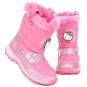 [ハローキティ] [サンリオ] Hello Kitty 女の子 子供用 あったか ライトアップ ピカピカ 光る靴 スノー ブーツ (17.0 cm) [並行輸入品]