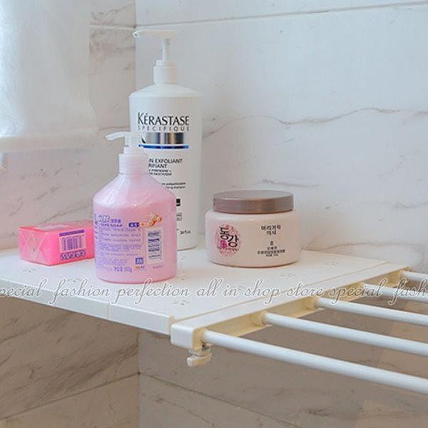 【DW237】收納分層隔板57-94廚房衛浴免釘自由伸縮置物架 EZGO商城